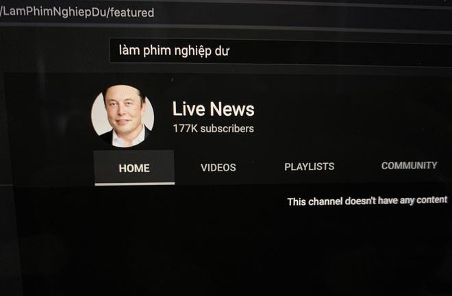 Kenh Youtube bi hack